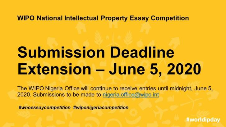 WIPO National Intellectual Property Essay Competition 5 June 2020
