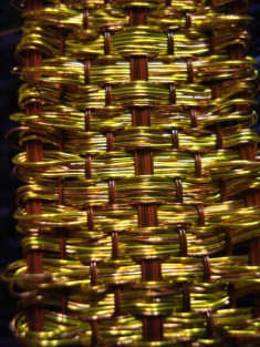 woven bracelet, close up