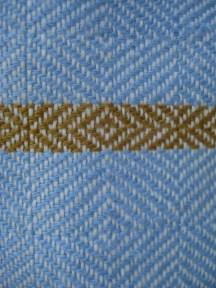 rustic linen towels: blue close up