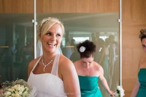 bride smilling