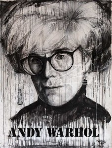 Andy Warhol and The Coke, Acryl auf Leinwand, 2016., 230x160 cm, ( Projekt Nobody, Zusammenarbeit mit Chris May )