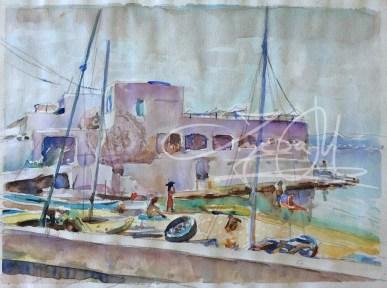 Puro Beach Aquarell 2 x 28cm 2015