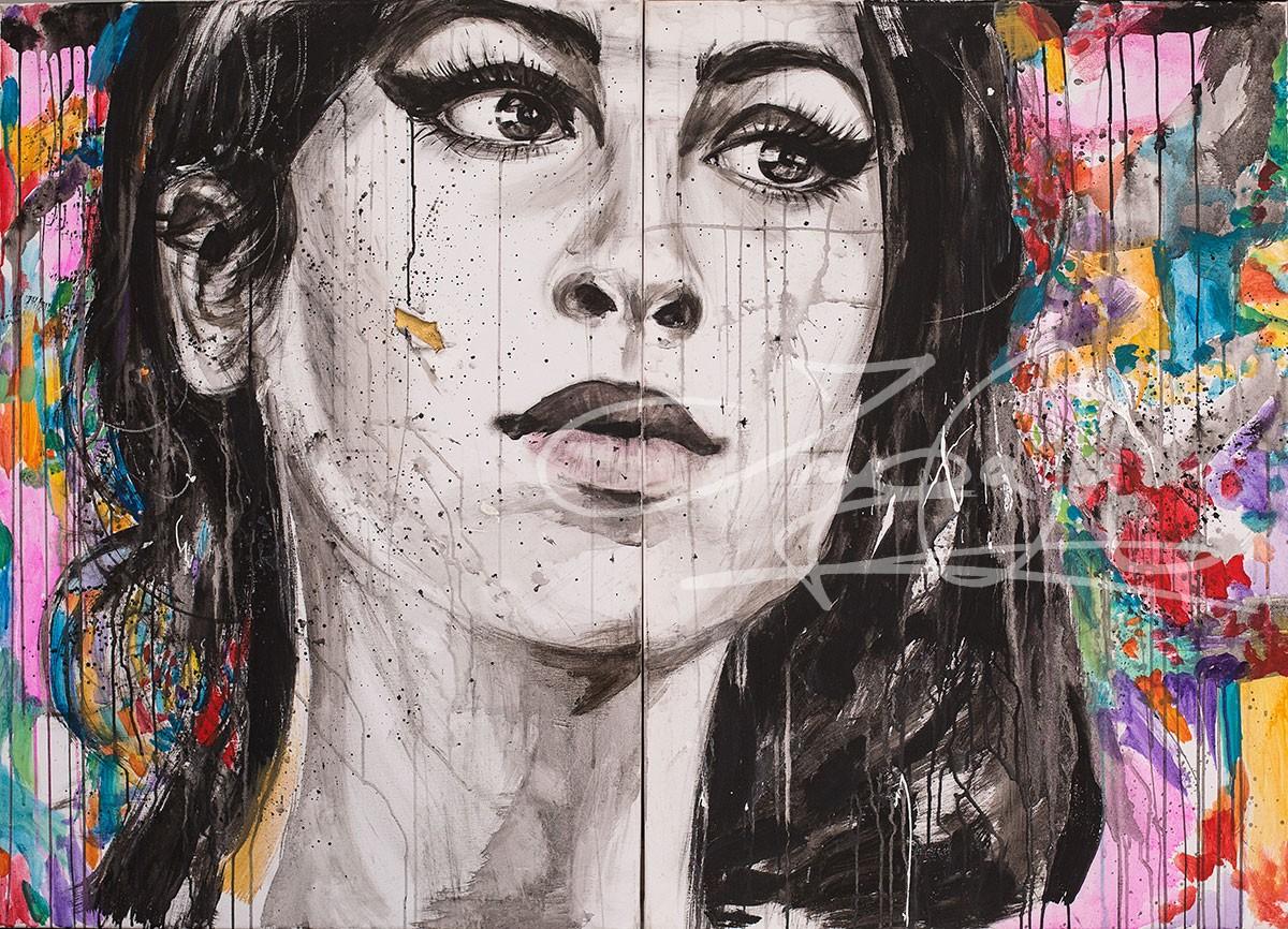 Amy oder Der Traum vom Glueck, Acryl auf Leinwand, 2016., 140x100 cm