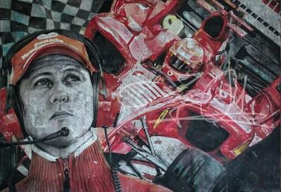 Michael Schumacher, Mixed Media, 2017, 160 x 120 cm