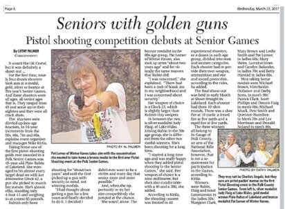 Seniors with golden guns
