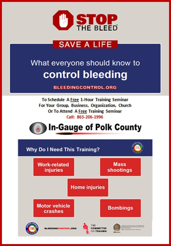 Stop The Bleed Training – In-Gauge of Polk County – A non