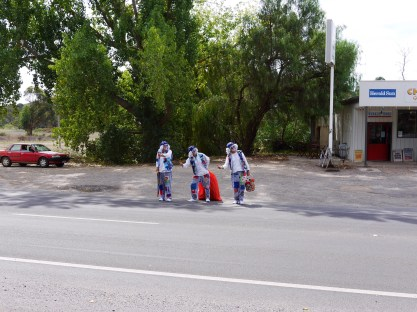 Three clowns, how random!