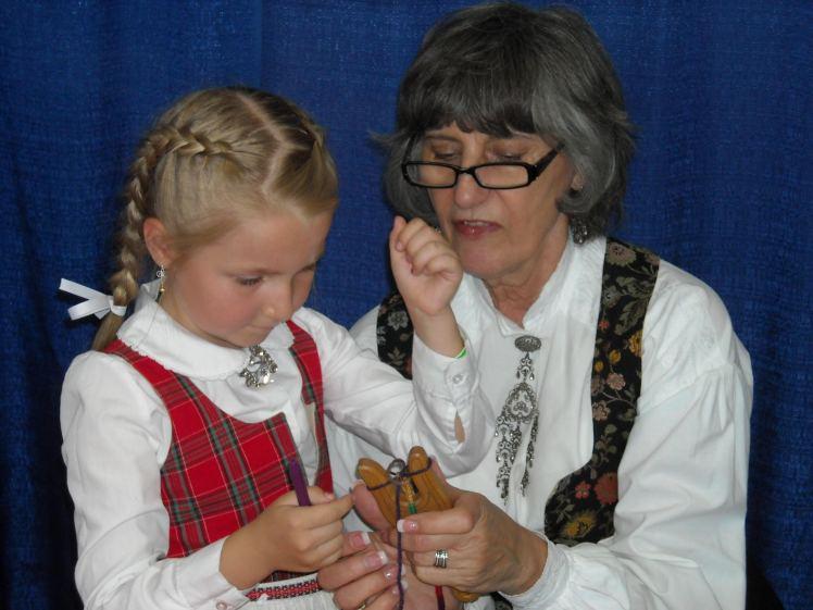 Nancy teaching lucet