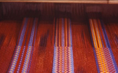 Fabric on the loom