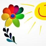 Blomma och sol