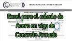 EXCEL PARA CÁLCULO DE ACERO EN VIGA DE CONCRETO ARMADO