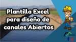 Plantilla Excel para diseño de canales Abiertos