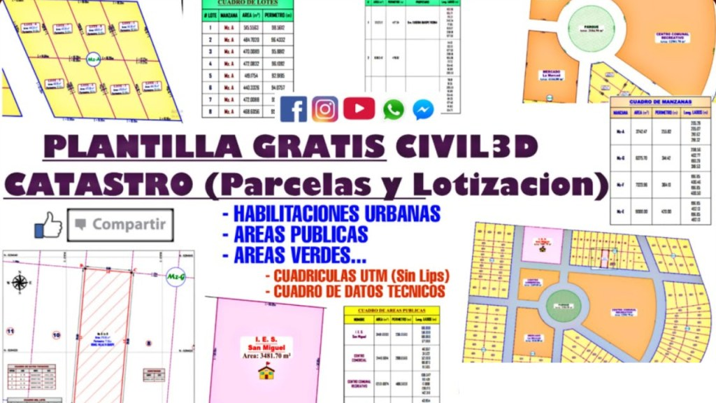 PLANTILLA GRATIS CIVIL3D - CATASTRO (Parcelas y Lotizacion)