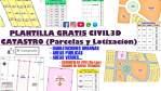 PLANTILLA de CIVIL 3D - CATASTRO (Parcelas y Lotizacion) - GRATIS