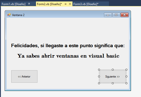 Ventanas en Visual Basic 8