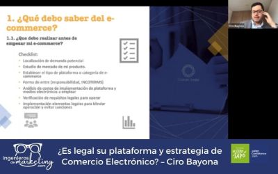 ¿Es legal su plataforma y estrategia de Comercio Electrónico? – Ciro Bayona