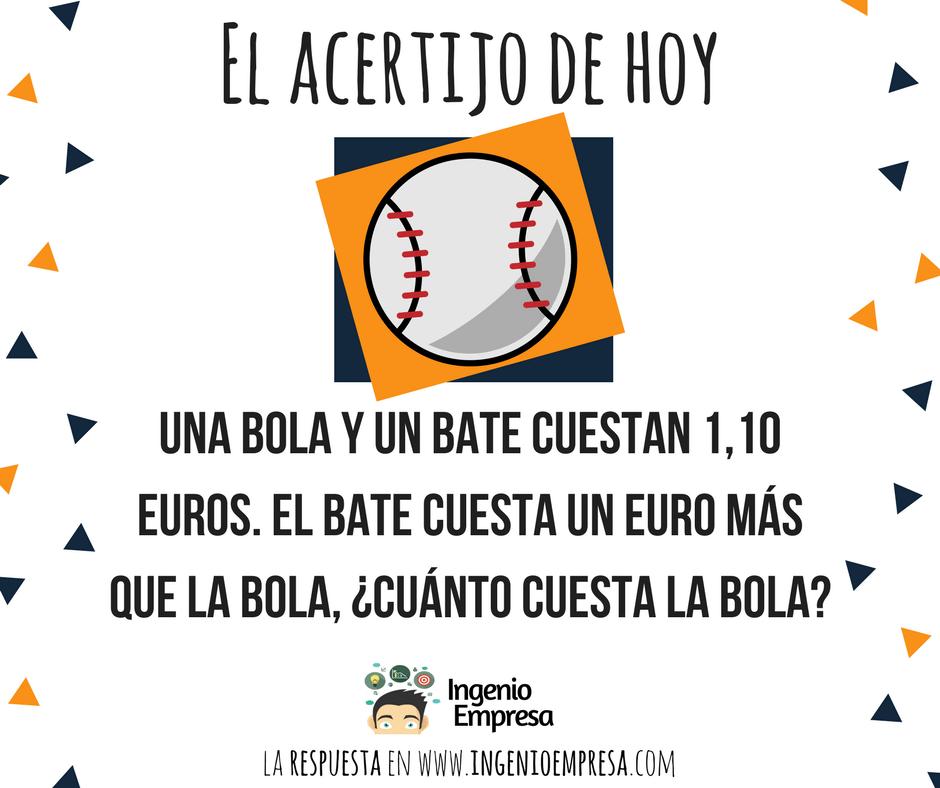 acertijo de la bola y el bate de beisbol