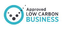 Approved low carbon business logo
