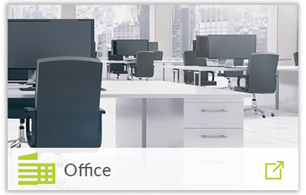 modern office with office icon