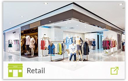 modern shop floor with retail icon