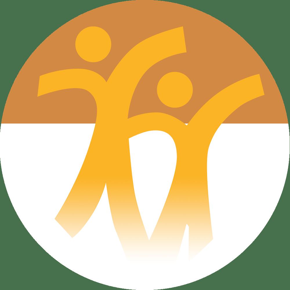 Ingenium Kids Logo with orange and white background