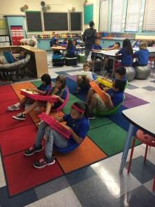 Children Sitting on the Carpet