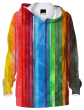Bright and Grime Vertical Stripes Hoodie