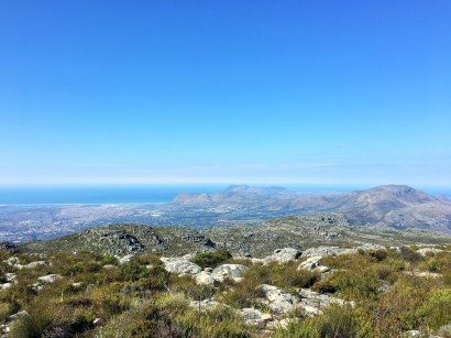 Views at the top of Table Mountain