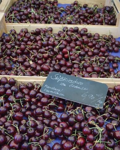 Cherries at a Meersburg market