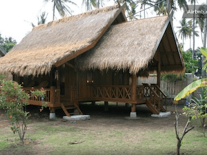 Gili island accommodation Santay villa gili air
