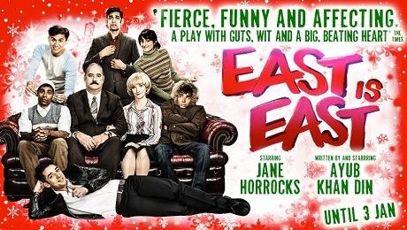 East is East Doğu Doğu'dur tiyatro Pakistan Pakistanlı aile İngiltere kültür oyun afiş poster