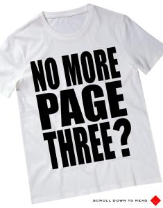 No More Page 3 üçüncü sayfa güzeli gazete hayır