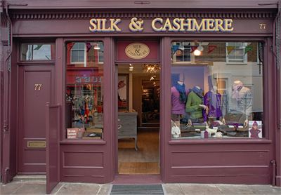Silk and Cashmere'in Londra Notting Hill'deki mağazası...