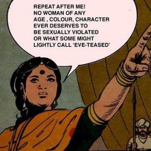 feminist kadın hakları kadınlar ayrımcılık saldırı çizgiroman feminizm Hindistan