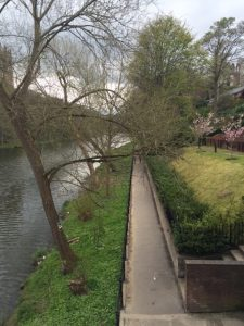 Durham yürüyüş yolu nehir kenarı