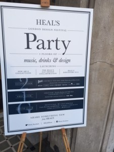 Heal's London Design Festival party