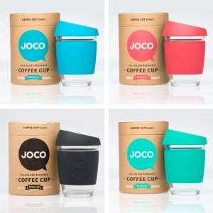 Joco glass coffee cup reusable travel mug portatif cam kupa