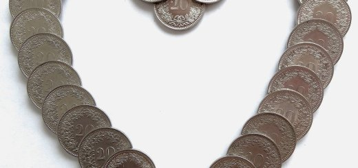 un cuore di monete
