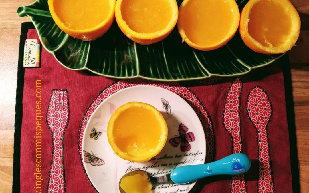 Cocinar con los Peques: ¡Gelatina de Naranja!
