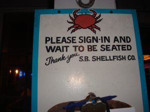 Please sign in and wait to be seated