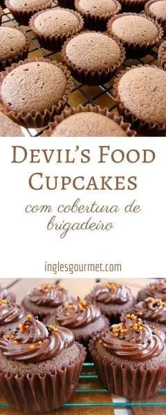 Devil's Food Cupcakes | Inglês Gourmet