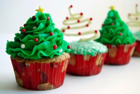 xmas tree cupcakes i feel cook