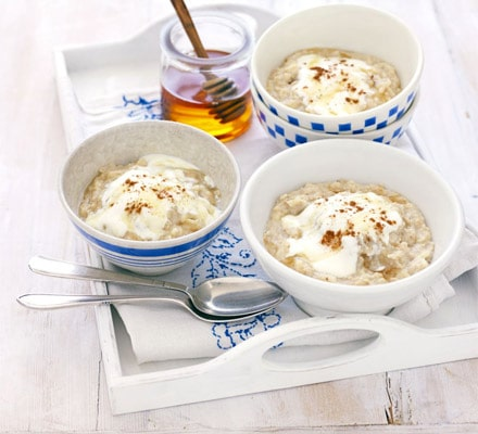Apple & Linseed Porridge - de maçã e linhaça (também chamada de flaxseed)