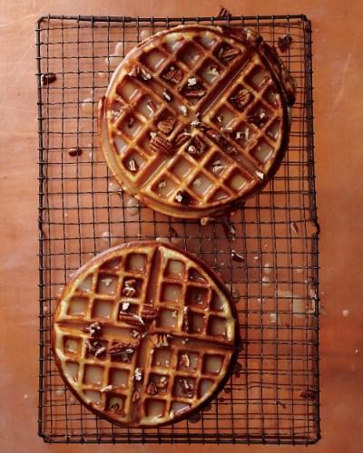 Maple-Brown-Butter Dessert Waffles Martha