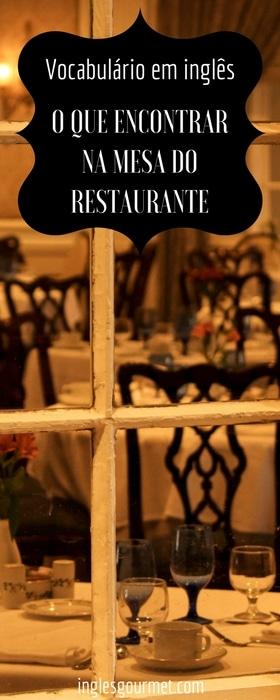 {Vocabulário em inglês} O que encontrar na mesa do restaurante | Inglês Gourmet