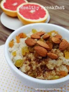 O café da manhã americano pode ser saudável!