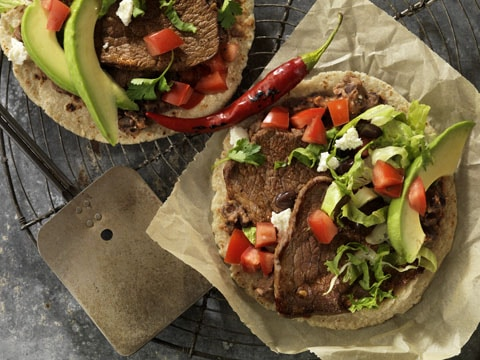 Soft Tacos feitos com Bottom Round Steaks
