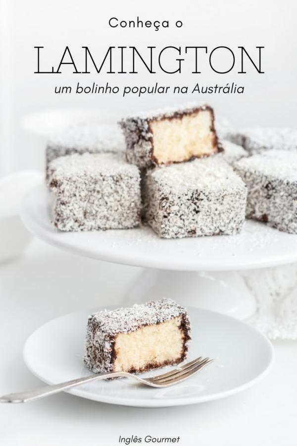 Conheça o Lamington, um bolinho popular na Austrália | Inglês Gourmet