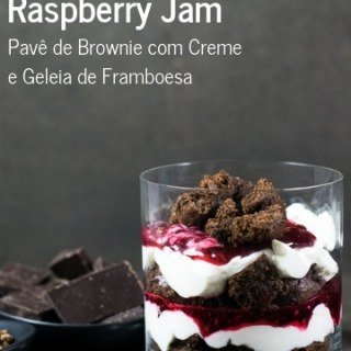 Receita de Brownie Trifle wih Cream and Raspberry Jam {Pavê de Brownie e Geleia de Framboesa} | Inglês Gourmet