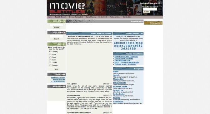 site para legendas em ingles - movie subtitles